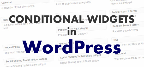 Conditional Widgets in WordPress