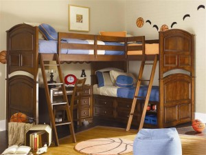 Corner-bunk-bed-design-with-stairs-for-kids-bedroom