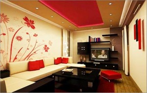 Flower themed living room
