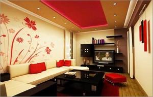 Flower themed living room