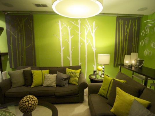 Green living room design
