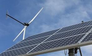 Solar panel and windmill - Alternative Power Sources